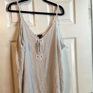 Torrid Blue and white Striped Tank- Size 3